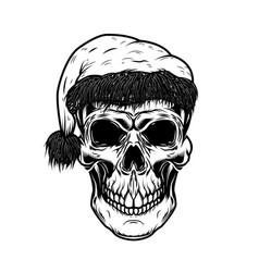 santa claus skull design element for poster card vector image vector image