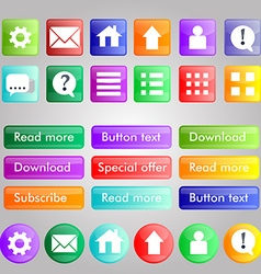 Set of bright buttons different colors for your vector image