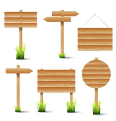set of wooden signs vector image vector image