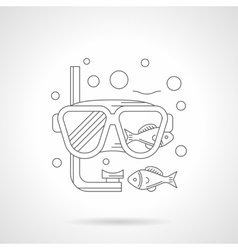 Snorkeling mask detailed line icon vector