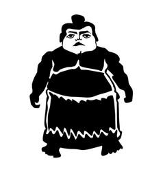 Sumo wrestler vector