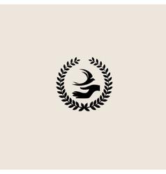 Swallow bird abstract logo design template vector image