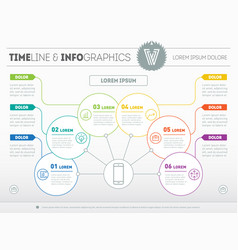 template of a info chart diagram or presentation vector image