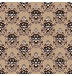 Vintage seamless damask background vector image