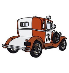 Vintage small firepatrol car vector image