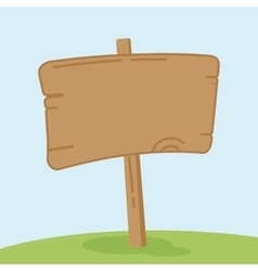 old wooden signpost vector image
