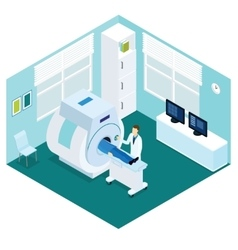 Mri diagnostic procedure isometric concept vector