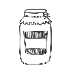 Silhouette glass jam with label and lid vector