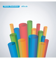 3d pipes background vector