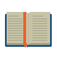 Open book school learning library vector