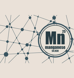 Manganrse chemical element vector