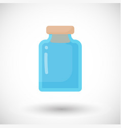 glass empty jar flat icon vector image