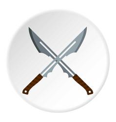 Japanese short swords icon circle vector