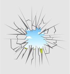crushed glass vector image