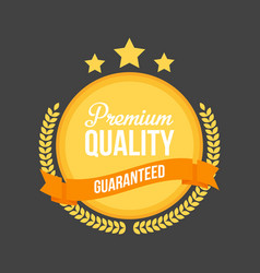 High quality flat badge sign round label vector