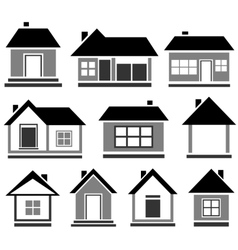 Isolated cottage set vector