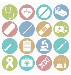 White icons medical vector