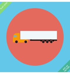 Icon trucks with refrigerator - vector