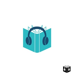 Audio book logo vector