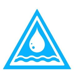 Water drop triangular sign vector