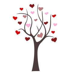 Love tree icon vector