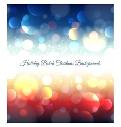 Holiday abstract bokeh christmas background vector