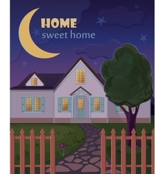 Home sweet home poster vector