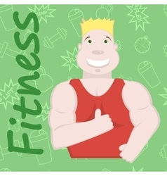 Sportsman fitness background vector