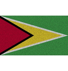 Flags guyana on denim texture vector