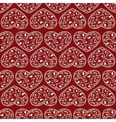 Red hearts seamless vector