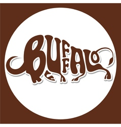 Animals logo buffalo vector