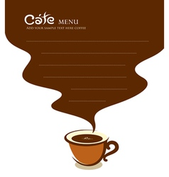 Coffee cup cafe menu design vector image