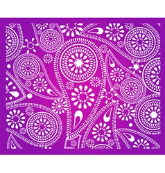 Abstract paisley flower background vector image