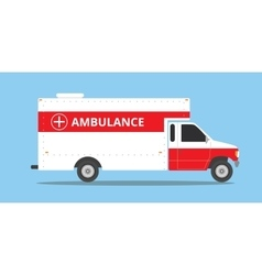 Ambulance car vehicle emergency with fast come vector