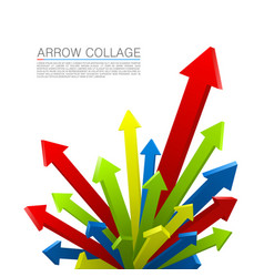 Arrow explosion colors art creative vector