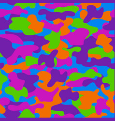 Camouflage seamless pattern in a violet orange vector