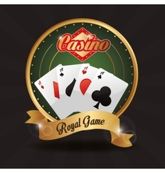 Cards button casino las vegas game icon vector