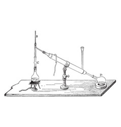Chemistry apparatus vintage vector