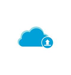 cloud computing icon upload icon vector image
