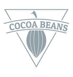 Cocoa beans logo simple gray style vector