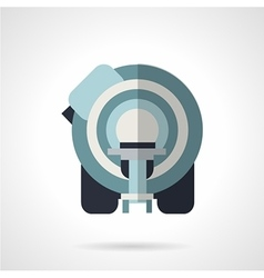 Ct scanner flat icon vector