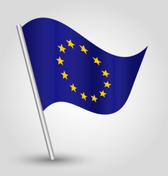 flag eu european union vector image vector image