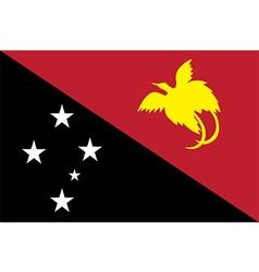 Flag of papua new guinea vector
