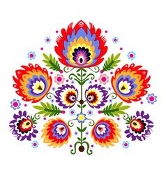 Folk embroidery flowers vector