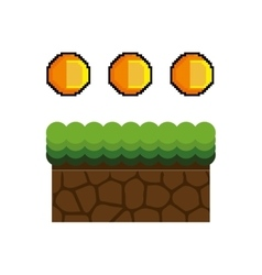 Ground mud block pixel vector