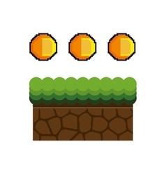 Ground mud block pixel vector