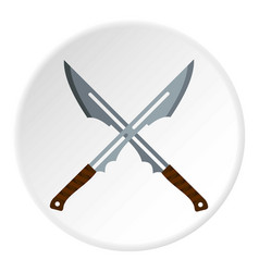 japanese short swords icon circle vector image
