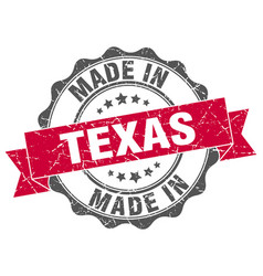 Made in texas round seal vector