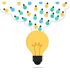 Many small ideas combine to big idea vector