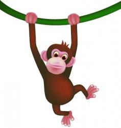 Monkey cartoon vector